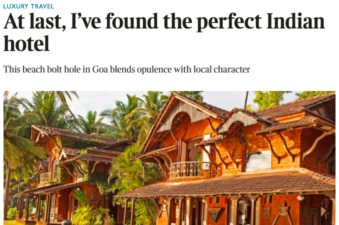 Sunday Times on Ahilya by the Sea